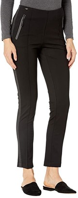 Lisette L Montreal Hollywood Slim Ankle Pants with Zipper Detail (Black) Women's Casual Pants