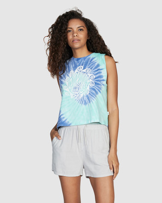 Quiksilver Womens Cropped Sleeveless T Shirt