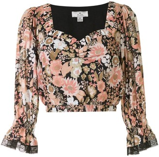 We Are Kindred Jessa floral-print crop top