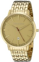 Vince Camuto Men's VC/1074GDGP The Associate Date Function Dial Gold-Tone Bracelet Watch