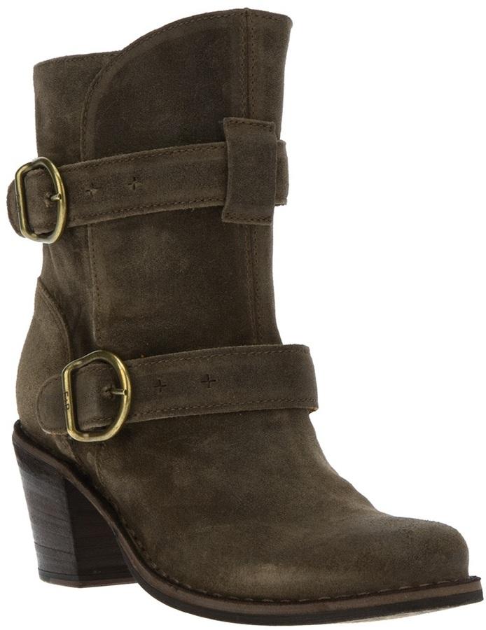Fiorentini+Baker Fiorentini + Baker buckle cowboy style boot