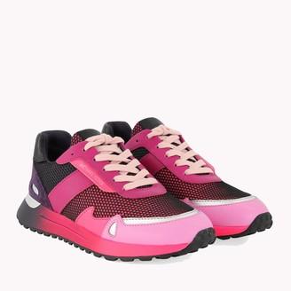 Michael Kors Pink Monroe Mixed-Media sneakers