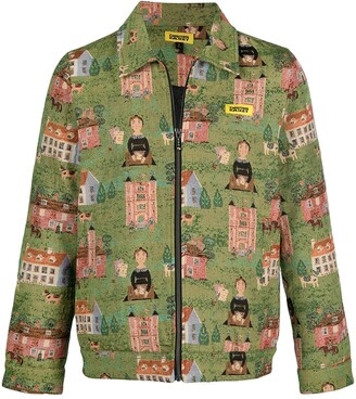 Chinatown Market Woven Tapestry Jacket