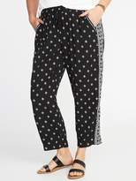 Old Navy Mid-Rise Plus-Size Printed Soft Pants