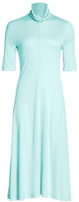 Rosetta Getty Cowled Turtleneck Midi Dress