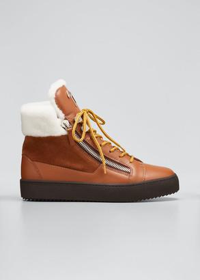 Giuseppe Zanotti Men's Zip High-Top Sneaker Boots