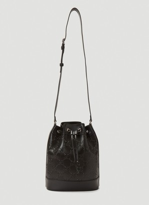 Gucci Embossed Logo Bucket Bag
