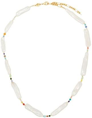 Anni Lu rock sea pearl necklace