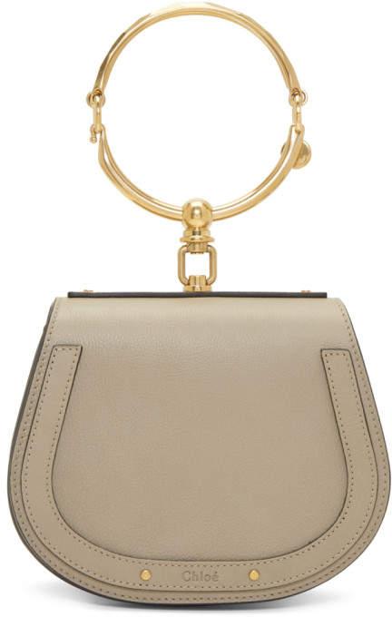 Chloé Grey Small Nile Bracelet Bag