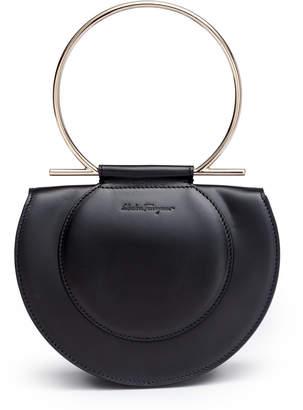 Salvatore Ferragamo Daphne Gancino black shoulder bag
