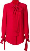 Alexander McQueen scarf detail shirt - women - Silk - 38