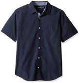 Nautica Men's Short Sleeve Check Plaid Button Down Shirt