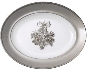 """Wedgwood Winter White Oval Platter 14"""""""