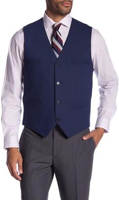 Savile Row Co Leeds Blue Slim Fit Bi-Stretch Suit Separate Vest