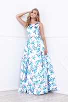 Nox Anabel Floral Print Sleeveless Long Dress With Cut Out Open Back