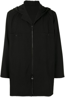Yohji Yamamoto Zip-Front Hooded Shirt