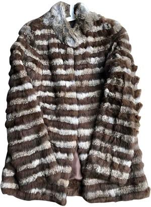 MANGO Brown Rabbit Coat for Women