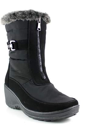 Aquatherm By Santana Canada Wynter Zip-Front Faux-Fur-Trim Ankle Boots