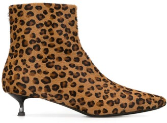 MSGM Leopard Print Ankle Boots