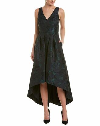 Aidan Mattox Aidan Women's Jacquard HIGH Low Dress