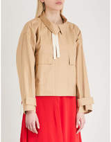 Mo&Co. Strap-detailed cotton jacket