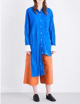 Loewe Crinkled asymmetric suede shirt