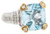 Judith Ripka Two-Tone Topaz & Diamond Cocktail Ring