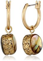 Kenneth Cole New York Abalone Small Hoop Earrings