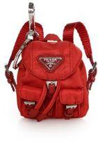Prada Vela Backpack Keychain