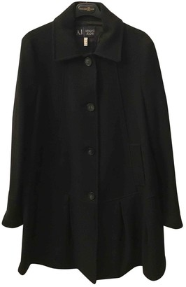 Armani Jeans Black Wool Coat for Women