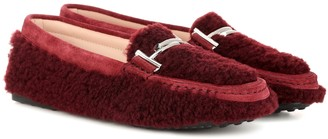 Tod's Double T shearling loafers
