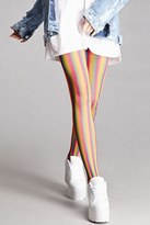 Forever 21 FOREVER 21+ Leg Avenue Neon Rainbow Tights
