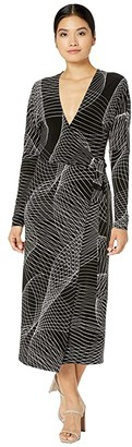 KAMALIKULTURE by Norma Kamali Dolman Wrap Straight Dress (Electric Circus) Women's Clothing