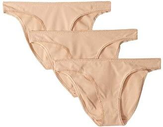 OnGossamer Cabana Cotton Hip Bikini 3-Pack 1402P3 (Black) Women's Underwear