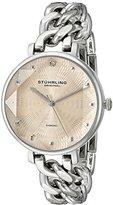 Stuhrling Original Women's 596.03 Vogue Genuine Diamond Chain Link Bracelet Watch
