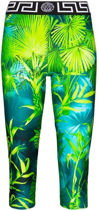 Versace Jungle print cropped leggings
