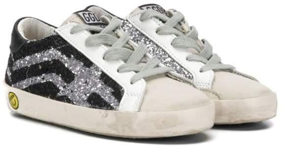 Golden Goose Kids sequinned lo-top sneakers