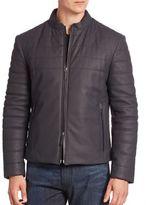 Armani Collezioni Leather Bomber