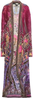 Camilla Daughter's Destiny Jersey-paneled Embellished Printed Silk Crepe De Chine Kimono