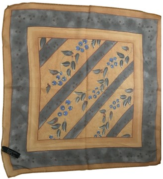 Ermenegildo Zegna Orange Silk Scarves & pocket squares