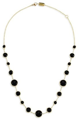 Ippolita Lollipop Short Lollitini 18K Yellow Gold & Onyx Necklace