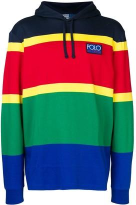 Polo Ralph Lauren panelled colour block hoodie