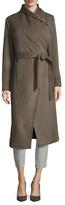 Cole Haan Wool Belted Midi Coat
