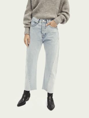 Scotch & Soda Extra Boyfriend Plus organic cotton jeans Powder Blue | Women