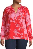 Lord & Taylor Plus Floral-Print Top