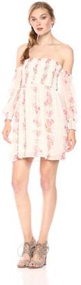En Creme Women's Cold Shoulder Dress
