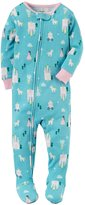Carter's Girls' 12 Months-5T Princess Print One Piece Cotton Pajamas