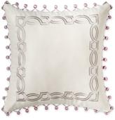"Waterford Veranda Embroidered 16"" Square Decorative Pillow"
