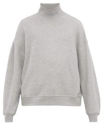 Raey Funnel-neck Cotton-jersey Sweatshirt - Mens - Grey