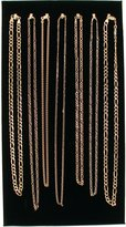 FindingKing 7 Hook Velvet Necklace Display Chain Pad 14 1/8""